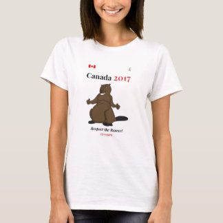 Canada 150 in 2017 Beaver Respect T-Shirt