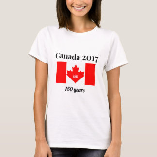 Canada 150 in 2017 Heart Flag T-Shirt