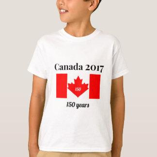 Canada 150 in 2017 Heart Flag T-Shirt