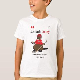 Canada 150 in 2017 Hockey Rock On T-Shirt