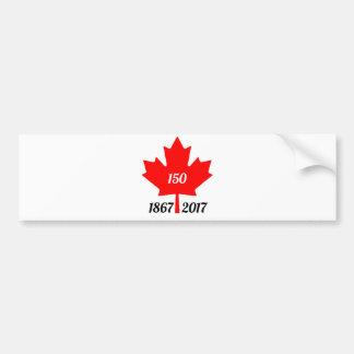 Canada 150 in 2017 maple leaf bumper sticker