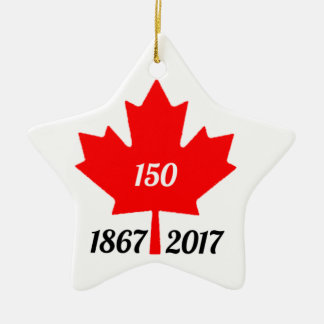 Canada 150 in 2017 maple leaf christmas ornament