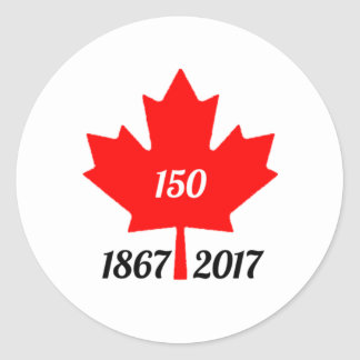 Canada 150 in 2017 maple leaf classic round sticker