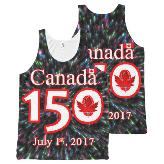 CANADA 150 LEAF FIREWORKS All-Over PRINT TANK TOP
