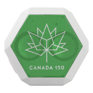 Canada 150 Logo White Bluetooth Speaker
