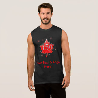 Canada 150 Maple Leaf Customizable Your Text Here Sleeveless Shirt