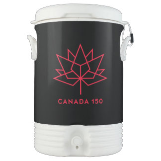 Canada 150 Official Logo - Black and Red Drinks Cooler
