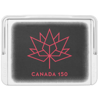 Canada 150 Official Logo - Black and Red Igloo Cooler