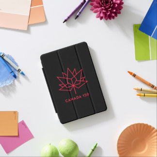 Canada 150 Official Logo - Black and Red iPad Mini Cover