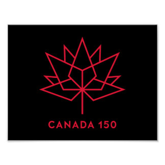 Canada 150 Official Logo - Black and Red Poster
