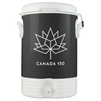 Canada 150 Official Logo - Black and White Drinks Cooler