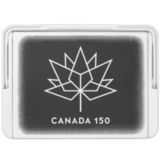 Canada 150 Official Logo - Black and White Igloo Cool Box