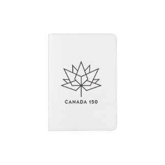 Canada 150 Official Logo - Black Outline Passport Holder