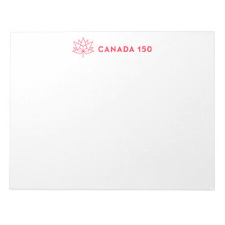 Canada 150 Official Logo - Horizontal Red Outline Notepad