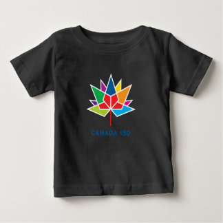 Canada 150 Official Logo - Multicolor and Black Baby T-Shirt