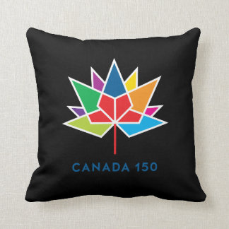 Canada 150 Official Logo - Multicolor and Black Cushion