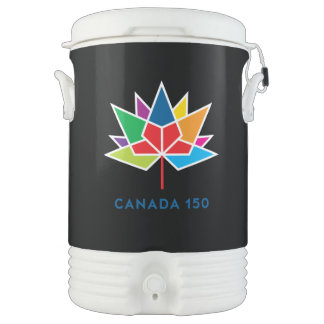 Canada 150 Official Logo - Multicolor and Black Drinks Cooler