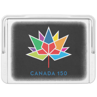 Canada 150 Official Logo - Multicolor and Black Igloo Cool Box