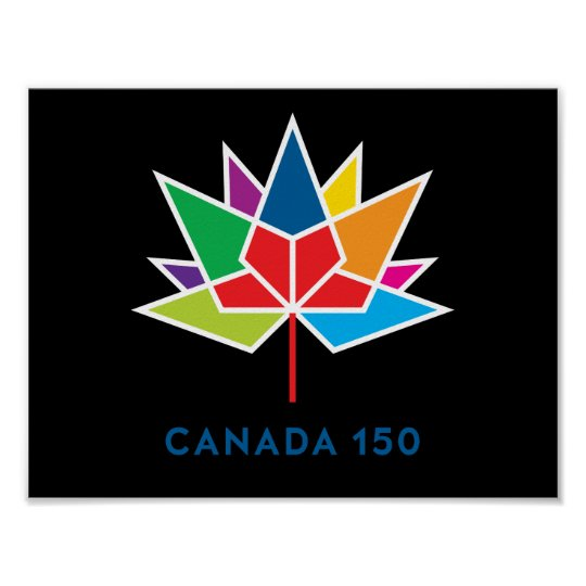 Canada 150 Official Logo - Multicolor and Black Poster