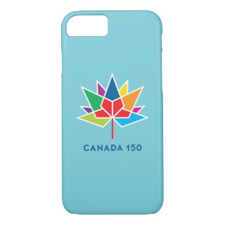 Canada 150 Official Logo - Multicolor and Blue iPhone 8/7 Case