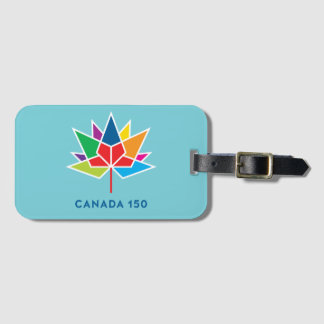 Canada 150 Official Logo - Multicolor and Blue Luggage Tag