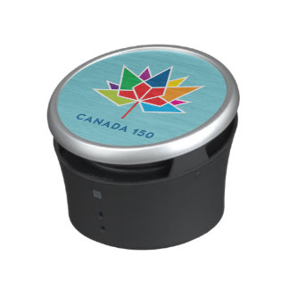 Canada 150 Official Logo - Multicolor and Blue Speaker