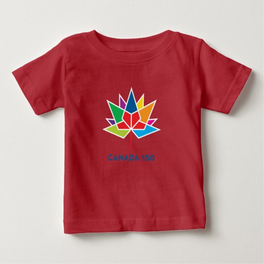 Canada 150 Official Logo - Multicolor and Red Baby T-Shirt