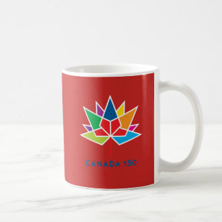 Canada 150 Official Logo - Multicolor and Red Coffee Mug