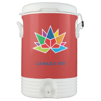 Canada 150 Official Logo - Multicolor and Red Cooler
