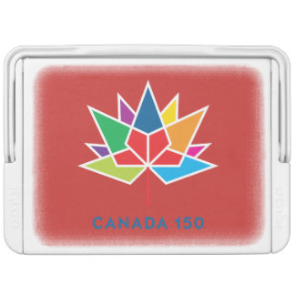 Canada 150 Official Logo - Multicolor and Red Igloo Cool Box