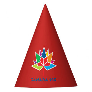 Canada 150 Official Logo - Multicolor and Red Party Hat