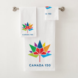 Canada 150 Official Logo - Multicolor Bath Towel Set