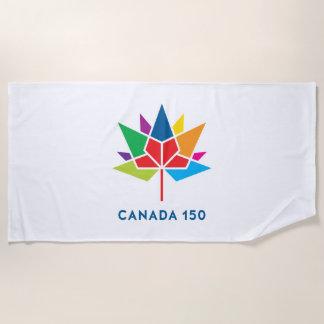 Canada 150 Official Logo - Multicolor Beach Towel