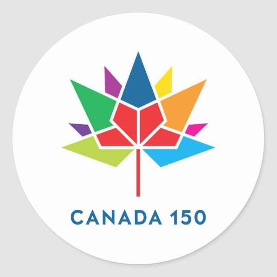 Canada 150 Official Logo - Multicolor Classic Round