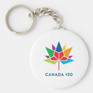 Canada 150 Official Logo - Multicolor Key Ring
