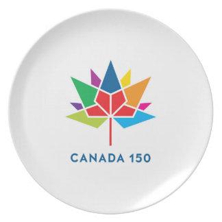 Canada 150 Official Logo - Multicolor Party Plates