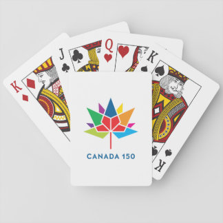 Canada 150 Official Logo - Multicolor Playing Cards