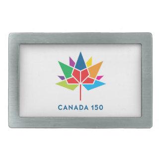 Canada 150 Official Logo - Multicolor Rectangular Belt Buckles