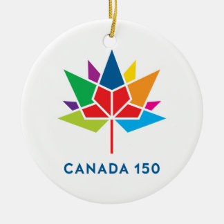 Canada 150 Official Logo - Multicolor Round Ceramic Decoration