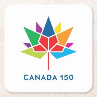 Canada 150 Official Logo - Multicolor Square Paper Coaster