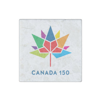 Canada 150 Official Logo - Multicolor Stone Magnet