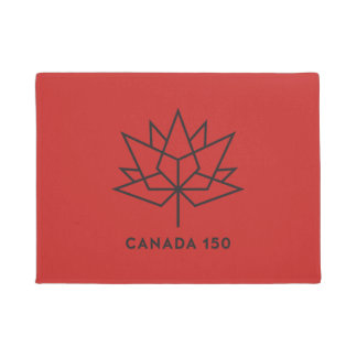 Canada 150 Official Logo - Red and Black Doormat