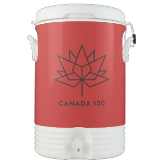 Canada 150 Official Logo - Red and Black Drinks Cooler