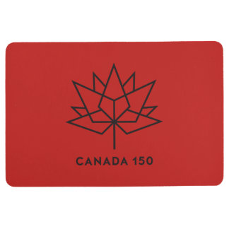 Canada 150 Official Logo - Red and Black Floor Mat