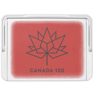 Canada 150 Official Logo - Red and Black Igloo Cool Box