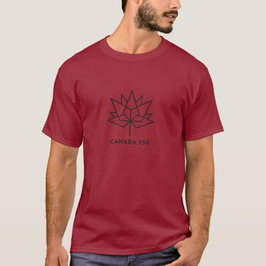 Canada 150 Official Logo - Red and Black T-Shirt