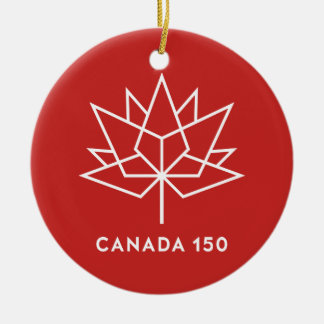 Canada 150 Official Logo - Red and White Christmas Ornament