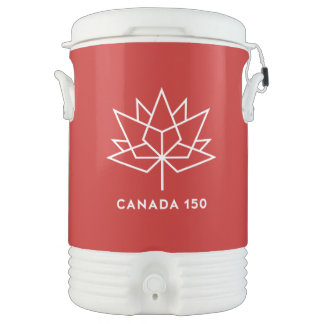 Canada 150 Official Logo - Red and White Drinks Cooler
