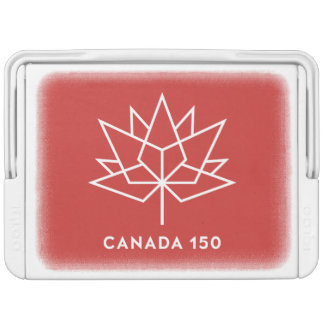 Canada 150 Official Logo - Red and White Igloo Cooler