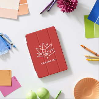 Canada 150 Official Logo - Red and White iPad Mini Cover